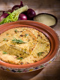 Couscous cake with onions Stock Photo