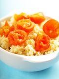 Couscous with cherry tomatoes Stock Photo