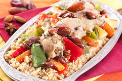 Couscous with chicken Stock Photos
