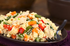 Couscous with Chicken, Bean, Carrot and Bell Pepper Royalty Free Stock Images