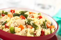Couscous with Chicken, Bean, Carrot and Bell Pepper Stock Images