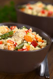 Couscous with Chicken, Bean, Carrot and Bell Pepper Stock Photos