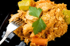 Couscous with Chicken Closeup Stock Photography