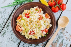 Couscous with chickpeas Royalty Free Stock Images