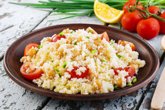 Couscous with chickpeas Stock Photography