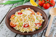 Couscous with chickpeas Royalty Free Stock Photo