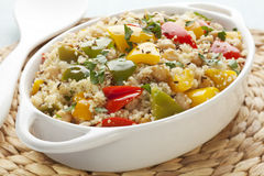 Couscous with Chickpeas and Peppers Stock Photos