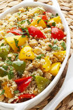 Couscous with Chickpeas and Peppers Royalty Free Stock Photo