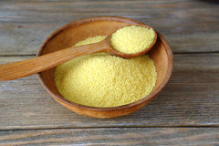 Couscous in a clay bowl Royalty Free Stock Images
