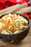 Couscous with coconut Stock Photography