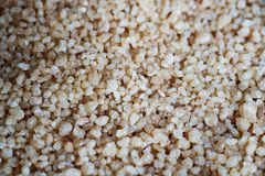 Couscous for cooking. Seasoning and refining Royalty Free Stock Photos