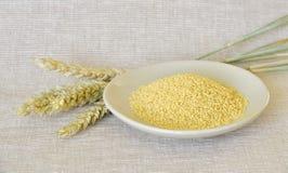 Couscous cru Image stock