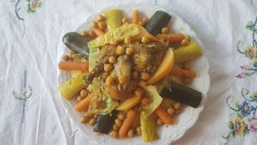 Couscous de poulet Photographie stock libre de droits