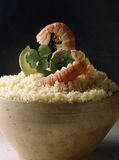 Couscous and Dublin Bay prawns Royalty Free Stock Photography