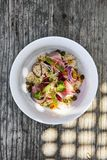 Couscous et salade de thon desséchée image libre de droits