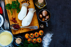 Couscous with fresh vegetables Stock Photos