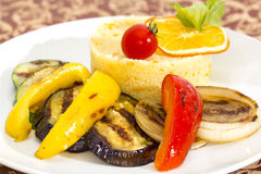Couscous with grilled vegetables Stock Images