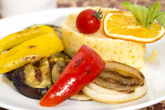 Couscous with grilled vegetables Royalty Free Stock Photo