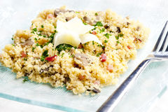 Couscous with ham Royalty Free Stock Image