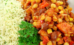 Couscous And Lentil Hotpot Stock Images