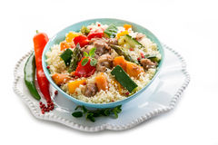 Couscous with meat Stock Images