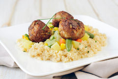 Couscous and meat Royalty Free Stock Images