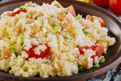 Couscous med kikärtar Royaltyfri Fotografi