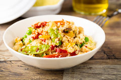Couscous met veggies royalty-vrije stock foto's