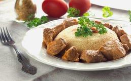 Couscous mit Fleisch Lizenzfreie Stockfotos