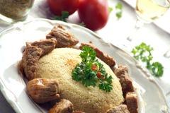 Couscous mit Fleisch Lizenzfreies Stockfoto