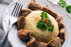Couscous mit Fleisch Stockbilder