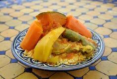 Couscous mit Gemüse Lizenzfreies Stockbild