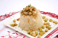 Couscous with peas Royalty Free Stock Image