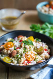 Couscous with Pomegranate and Almond salad Royalty Free Stock Photo