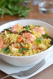 Couscous with prawns Royalty Free Stock Images