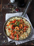 Couscous with prawns Royalty Free Stock Image