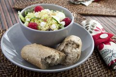 Couscous Salad with Bread Royalty Free Stock Photo