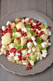 Couscous salad with cauliflower Royalty Free Stock Photos
