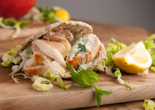 Couscous salad and fish steak Royalty Free Stock Image