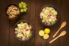 Couscous Salad with Grapes, Pomegranate, Nuts and Cheese Royalty Free Stock Photo