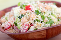 Couscous salad. Healthy couscous salad meal on bowl stock photography