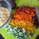 Couscous Salad Ingredients Royalty Free Stock Photography