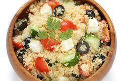 Couscous salad , kuskus salad Stock Image