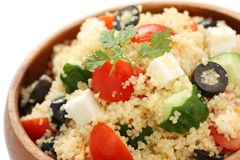 Couscous salad , kuskus salad Stock Photo