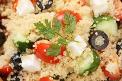 Couscous salad , kuskus salad Stock Photos