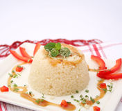 Couscous with sauce Royalty Free Stock Photo
