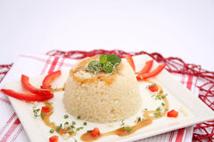 Couscous with sauce Royalty Free Stock Photography