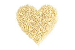 Couscous in a shape of a heart Royalty Free Stock Photo