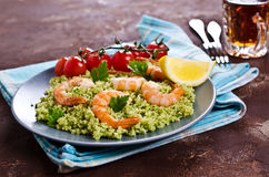 Couscous with shrimp Stock Photos