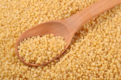 Couscous in a spoon Stock Image
